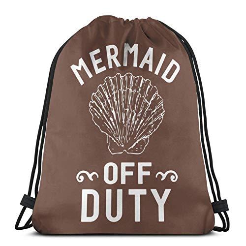 XCNGG Sporttasche Kordeltasche Reisetasche Sporttasche Schultasche Rucksack Drawstring Bag Mermaid Off Duty Tank Top Training Gymsack