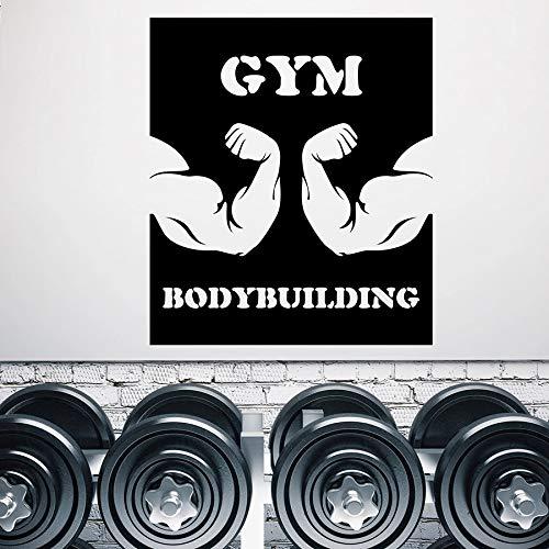Tianpengyuanshuai Gym Bodybuilding Muursticker Biceps Training Logo Fitness Club Decoratie Vinyl deuren en ramen sticker