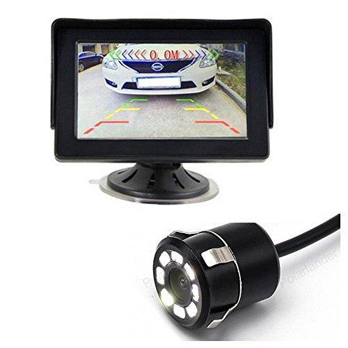 GOFORJUMP 4.3 Pouces Car Rearview Parking Moniteur Vue Arrière Caméra CCD Vidéo Auto Parking Assistance LED Vision Nocturne Inverser Car-Style
