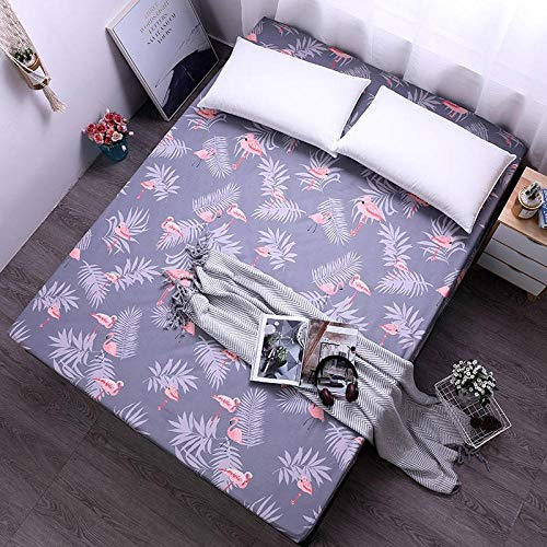 FQYYDD Bed Linings Polyester Printing Mattress Sheet Cover Home Textile Bed Protector Bed Sheet100X200Cm Hlnhui