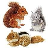 Aurora Bundle Squirrel, Chipmunk and Red Squirrel Woodland Park Mini Flopsies