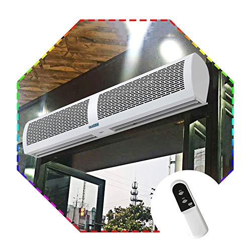 Aly Industrieller Luftschleier Mit Fernbedienung Super Dünne Metallschale Gewerblicher Garagentor-Windvorhang Maschine Für Den Innenbereich, Mücke Und Staubdicht