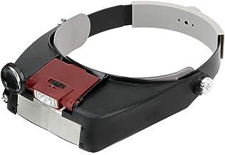 NOPNOG Hoofdband type loep, kunststof, met LED-licht, voor juweel en horloge, 1,5 x 3 x 8,5 x 10 x (rood)