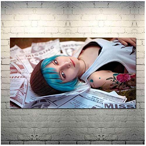 ZQXXX Life Is Strange Game Art Canvas Picture Poster e impresiones para la sala de estar Decoración del hogar Impresión en lienzo -60x80cm Sin marco