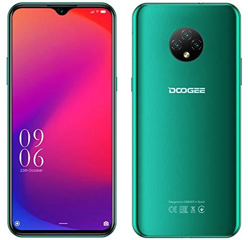4G Smartphone Libre Android 10 (2020), Teléfono Móvil DOOGEE X95 Dual SIM, 6.52'' Waterdrop Pantalla, Batería 4350mAh Carga Rápida, 2GB+16GB, 13MP+2MP+2MP+5MP, GPS WiFi, Reconocimiento Facial Verde