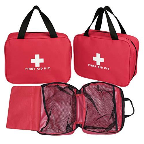 Kit vacío de Primeros Auxilios de Nylon Aoutacc, Bolsa de Primeros Auxilios compacta y Liviana para emergencias hogar, Oficina, automóvil Exterior Camping Senderismo (Solo Bolsa)