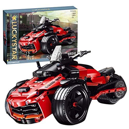Tewerfitisme 903 + Pcs Maqueta de vehículo técnico, moto de tres ruedas, bloques de construcción DIY MOC, piezas pequeñas compatibles con Lego