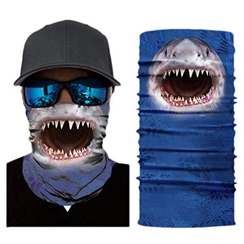KIACIYA Wind Face Shield Multifunktionstuch Atmungsaktiv & Schnelltrocknend - Motorrad Gesicht Mundschutz Lustig Skull Maske Chopper Mund-Tuch Halsschlauch Halstuch Mit Motiv (AC019,25x51cm)