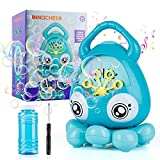 INNOCHEER Automatic Bubble Machine for Kids Toddlers, Octopus Musical Bubble Blower with Ocean Sound, 3000+ Bubbles/Minute, 100ml Refill Solutions, Party Favor Birthday Gift for Boys Girls 3+ (Green)