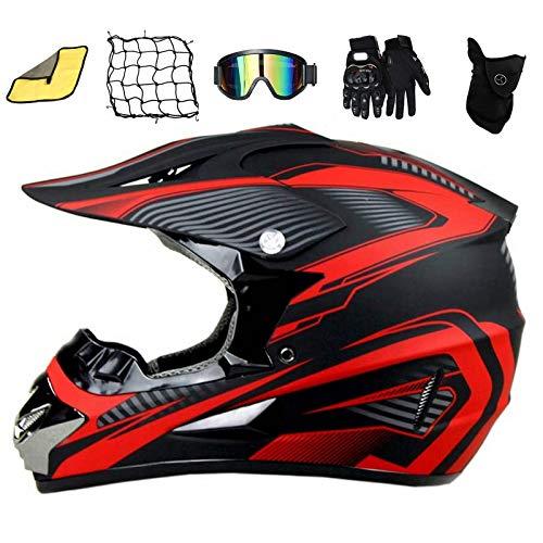 ASDGY D.O.T Standard Erwachsener Off Road Helm Helmets Kinder-Cross-Helm, Motocross...