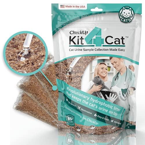 KIT4CAT 2lb Hydrophobic Litter Sand Cat Urine Sample Collection Kit 1...