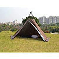 Outdoor Portable Waterproof Camping Pyramid Teepee Tent Pentagonal Adult Tipi Tent with Stove Hole