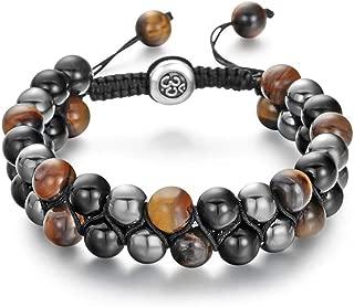 Lava Rock Mala Bead Bracelet-6PCS Essential Oil Diffuser...