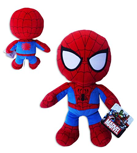 Spiderman 30cm Supersoft Muñeco Peluche Original Pelicula Comic Marvel Heroes Hombre Araña Alta Calidad
