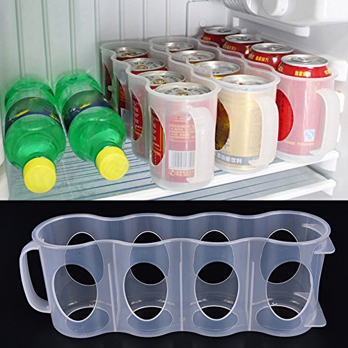 Frigorifero Storage box, can Beer Drinks Holder Portable Kitchen rack salvaspazio lattine finitura frigorifero organizzatore randomly color Random