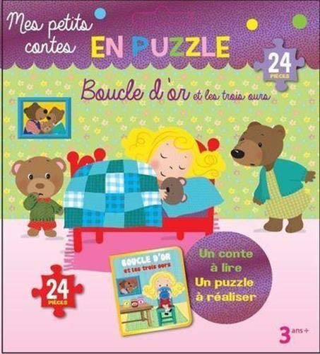 Boucle d'or et les trois ours: Un conte à lire, un puzzle à réaliser. 24 pièces (Mes petits contes en puzzle)