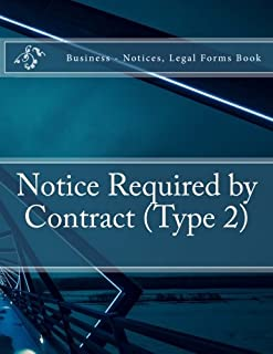 Notice Required by Contract (Type 2): Business - Notices, Legal Forms Book