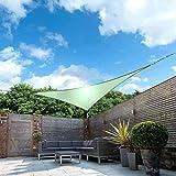 Toldo Vela De Sombra Toldo Vela La cortina Sun Shade Sail triángulo protector solar resistente al agua cortina de Sun Canopy Toldo de Vela con el kit de fijación for el patio al aire libre del césped