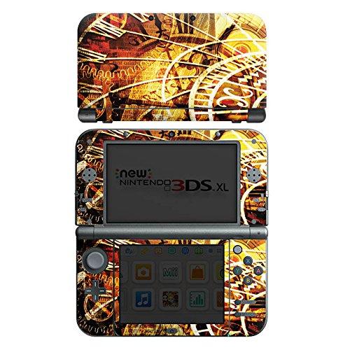 DeinDesign Skin kompatibel mit Nintendo New 3DS XL Folie Sticker Sternzeichen Vintage Uhr