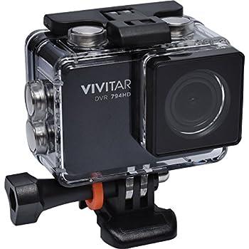 Vivitar DVR794HD 1080p HD Wi-Fi Waterproof Action Video Camera Camcorder  Black  with Remote Helmet & Bike Mounts