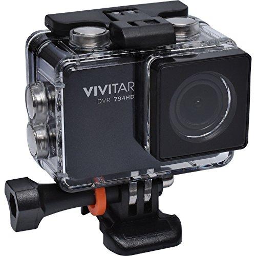 Vivitar DVR794HD 1080p HD Wi-Fi Waterproof Action Video Camera Camcorder (Black) with Remote, Helmet & Bike Mounts