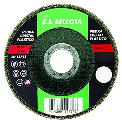 Bellota 50513-120 Disco Laminas Base Fibra DE Vidrio DESBASTE Piedra-CARBURO DE SILICIO (SIC120) 115MM, Standard, SIC 120