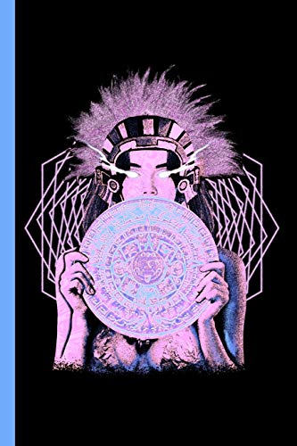 Aztec Princess Sun Stone Composition Notebook: Psychedelic Sacred Geometry Mayan Art Mexican Calendar Book