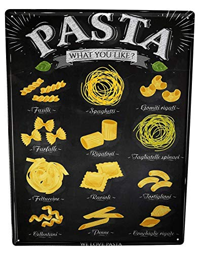 Li6454e Tin Sign Kitchen Pasta Poster for Home Signs Metal Art Decor Wall Plate 8x12