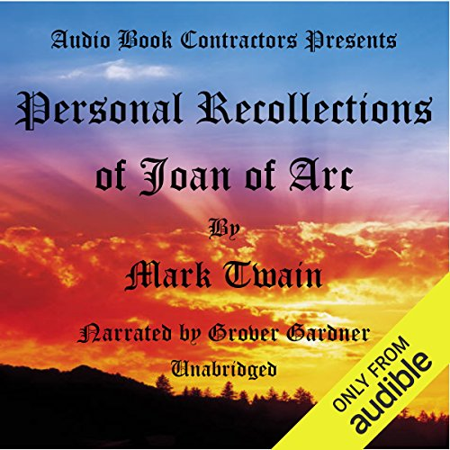 Couverture de Personal Recollections of Joan of Arc