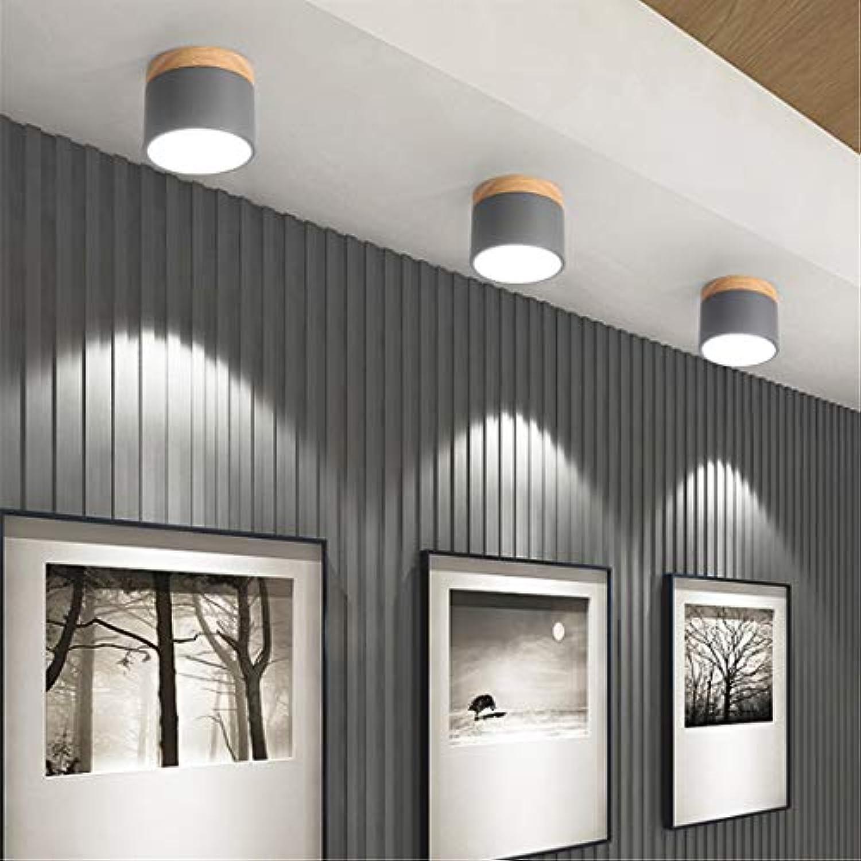 Moderne deckenleuchten holz deckenleuchte für wohnzimmer schlafzimmer kinderzimmer gang flur led spot licht 3 level dimming Grün
