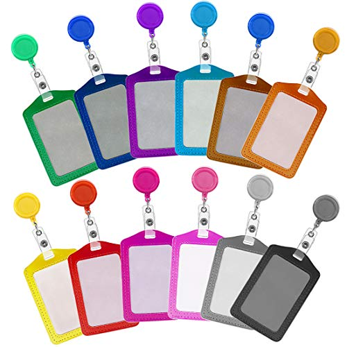 Soleebee 82cm Porta badge retrattile con Titolare della carta Verticale per Carte di identità, Chiavi, Impiegati, Carta dello studente, USB, ecc. - 12 pezzi