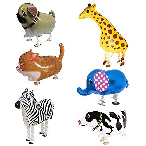 SwirlColor Tier Luftballons Folienballons Geburtstag Spaß Pet Party Ballons für Kinder Geschenk 6 Stücke