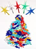 Ceramic Christmas Tree 100 Medium Twist Lights & 5 Stars