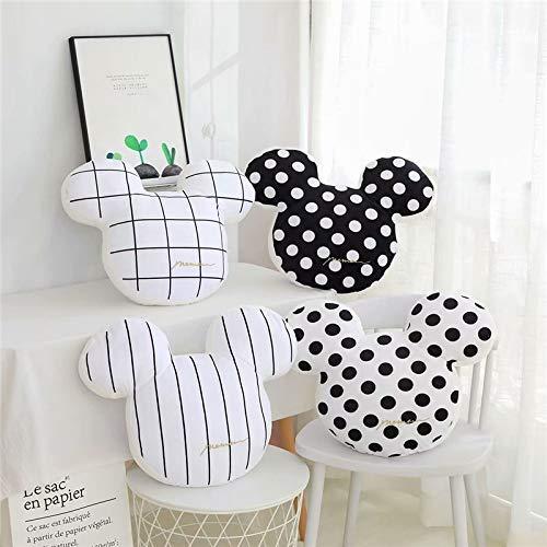 MISS KANG 48 cm Ins Testa di topo in stile nordico Cuscino di peluche peluche peluche Cartoon Testa di topo farcito bambola decorazione casa cuscino sedia ragazze G. Qingchunw