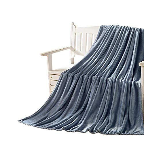 WYZXR Manta de piel sintética para el hogar, mantas de cuatro estaciones, se pueden utilizar como mantas para almuerzo, mantas grises de forro polar coral 150 veces; 200 cm