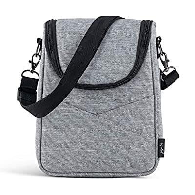 JuJuBe Insulated Baby Bottle Cooler Lunch Bag | On The Go, Waterproof Fabric, Machine Washable Lunch Box | Fits 2 Large Bottles | for All Ages, Babies & Adults | Glacier Gray