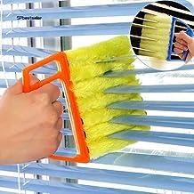 CHOUREN Microfibre Venetian Blind Cleaner Window Conditioner Duster Shutter Clean Brush,Variation:Blue 13.5cm by 16cm