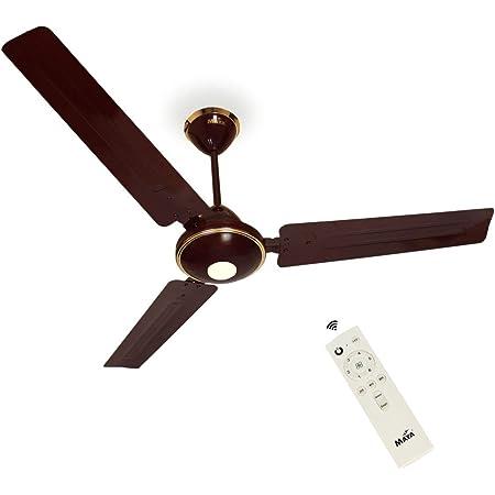 Maya 12 V Dc 1200 Mm Dc Eco Tech Bldc Ceiling Fan (Brown)