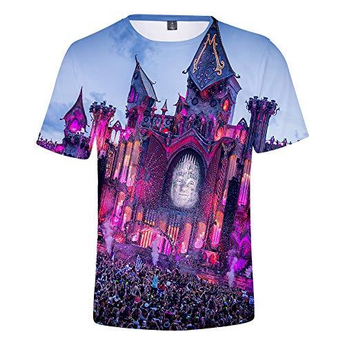 CCTXUE Magliette T-Shirts Stampa 3D Uomo Donna Neutro Tops Poliestere/Cotone Rapida Asciugatura Rapida Ventilazione Soft Casual Maniche Corte Girocollo Tomorrowland XL