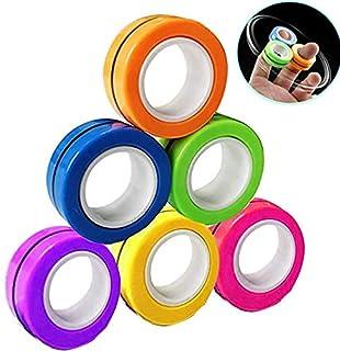 Anzmtosn Magnetic Rings Fidget Toys Magnet Fidget Spinners Fingears Rings Finger Hand Desk Toy Pocket Travel Magical Ring ...