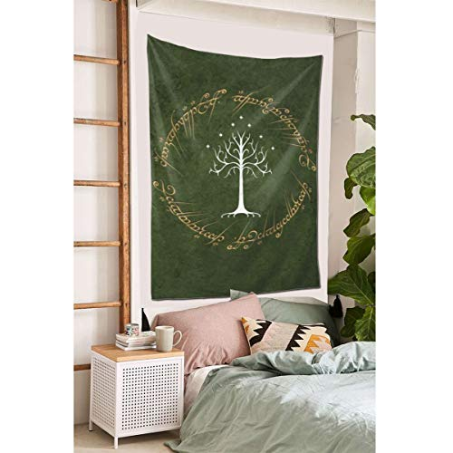 """Grtswp Lord Rings Green Background Tapestry, Wall Hanging Tapestries Europe Tapestry, Wall Decor for Dorm Bedroom Living Room 60""""x 40'"""