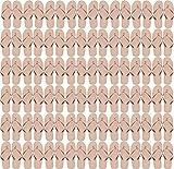 Wholesale Flip Flops, 48 Pairs, Many Colors, Men Women Kids, Wedding, Beach, Pool Party, Bulk Pack Slippers (Rose Gold)