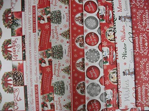 20 fogli di carta regalo natalizia tradizionale – Carta da regalo