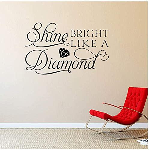 Precioso Brillo Brillante Como Un Diamante Arte Sala De Estar Decoración Del Hogar Pvc Etiqueta De La Pared 58X36Cm