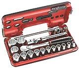 Facom SLDBOX112.PG - Coffret de serrage Détection Box 1/2' 21 pièces - Cliquet...