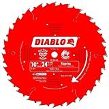 Manufacturer Freud Product Codes D1024X Diablo 10' 24-Tooth ATB Ripping Saw Blade 5/8' Arbor - Pack of 4