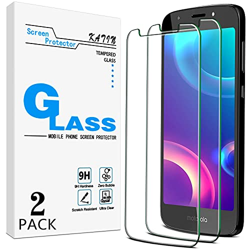 [2-Pack] KATIN For Motorola Moto E5 Play, Moto E Play (5th Gen), E5 Cruise Tempered Glass Screen Protector No-Bubble, 9H Hardness, Easy to Install