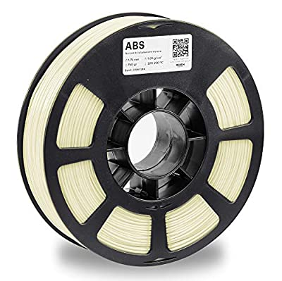 KODAK ABS Filament 1.75mm for 3D Printer, Natural, Dimensional Accuracy +/- 0.03mm, 750g Spool (1.7lbs), ABS Filament 1.75 Used as 3D Printer Filament to Refill Most FDM Printers