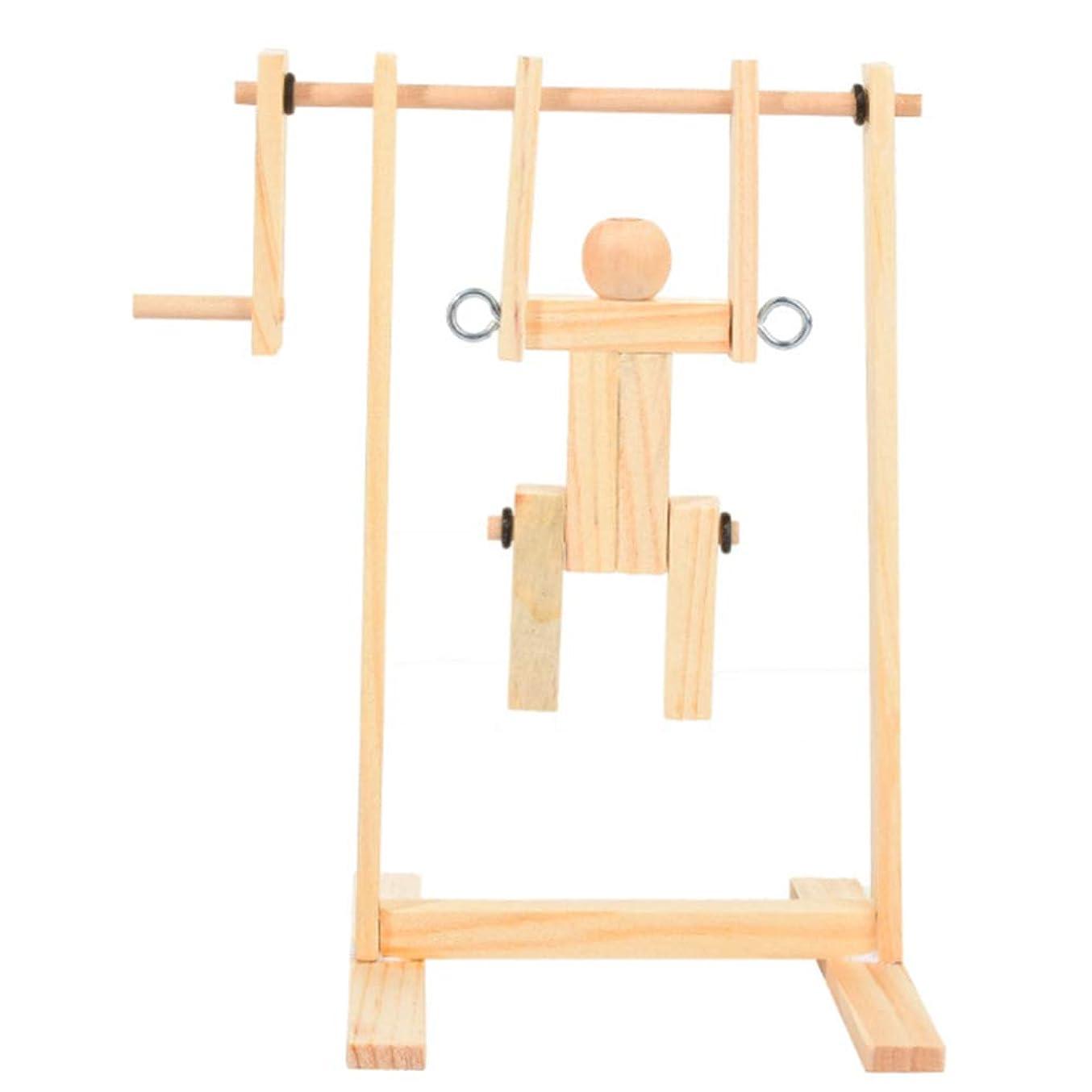 器用エコー受け継ぐTOYANDONA 木製組立おもちゃdiy木材体操人形フィギュアクラフト科学教育玩具