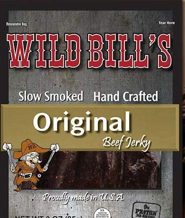 Wild Bills Original Hickory Slow Smoked Beef Jerky- 1.5 oz. Packages (4 Packages)